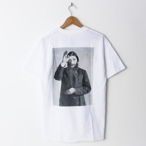 Theories Rasputin Heavyweight White/Black (Back Print)