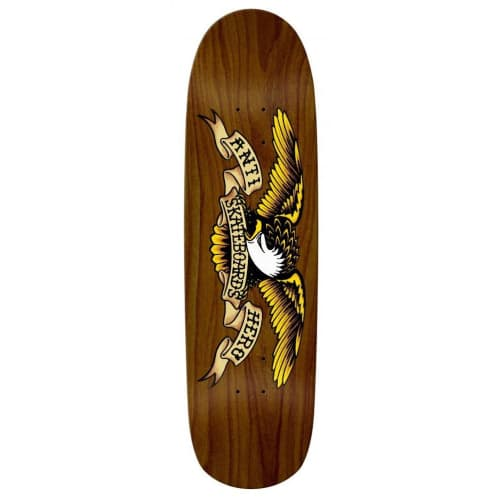 "Anti Hero ""Overspray Brown Bomber"" shaped Skateboard Deck 8.86"""