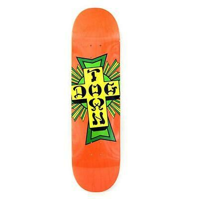 Dogtown Skateboards Street Cross Logo Deck 8.5 - Orange/Green
