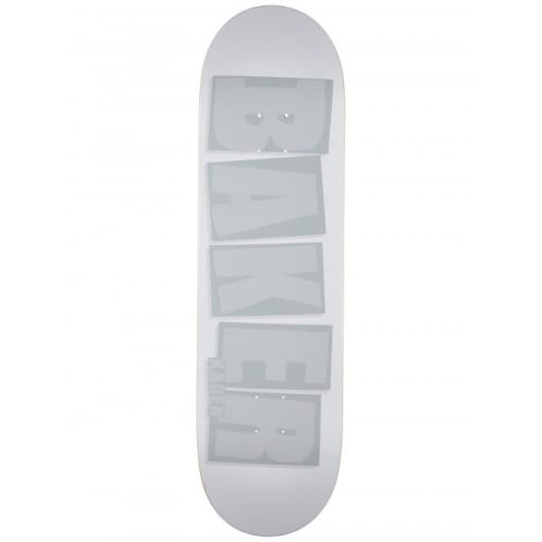 Baker Skateboards Kader Sylla Brand Name Skateboard Deck White Tonal - 9.00