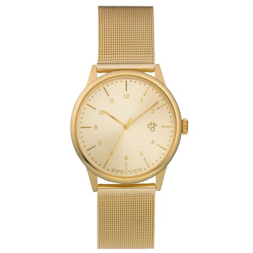 CHPO Rawiya Gold Watch - Gold Dial/Gold Mesh Wristband