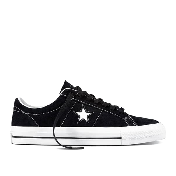 Converse Cons One Star Pro Shoes - Black / White / White