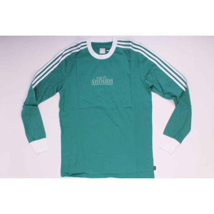 Adidas LS Creston Tee Green/White