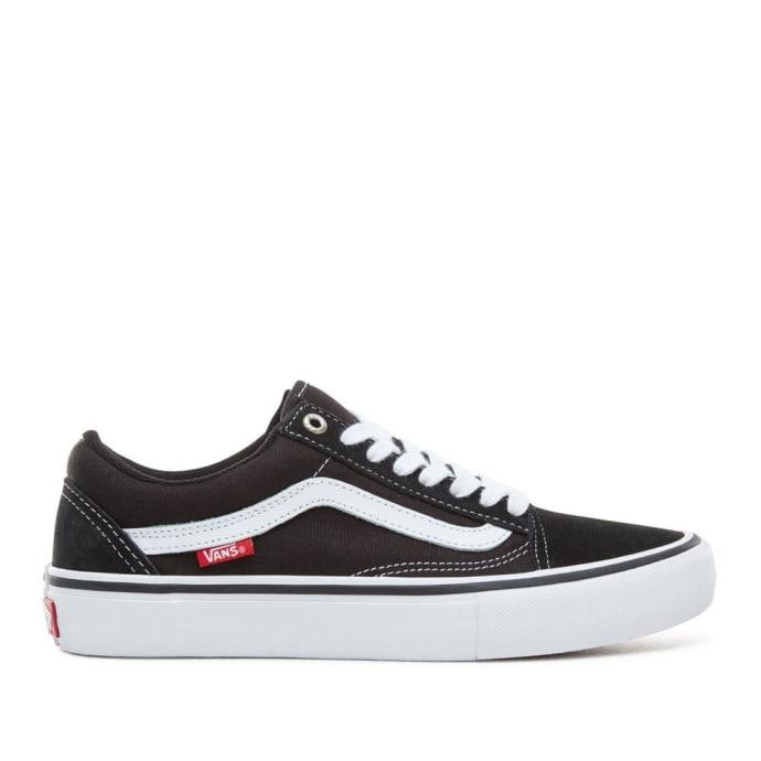 Vans Old Skool Pro Skate Shoes - Black / White