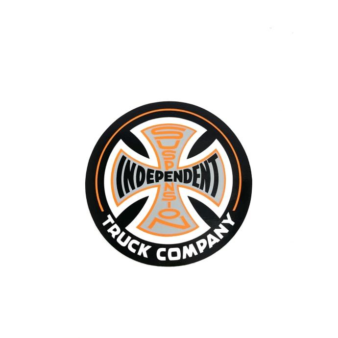 """Independent Trucks 3.5"""" Orange Black Cross sticker"""