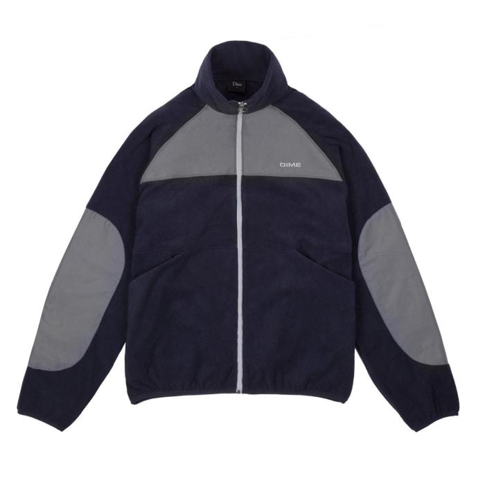 Dime Polar Fleece Track Jacket - Navy/Charcoal