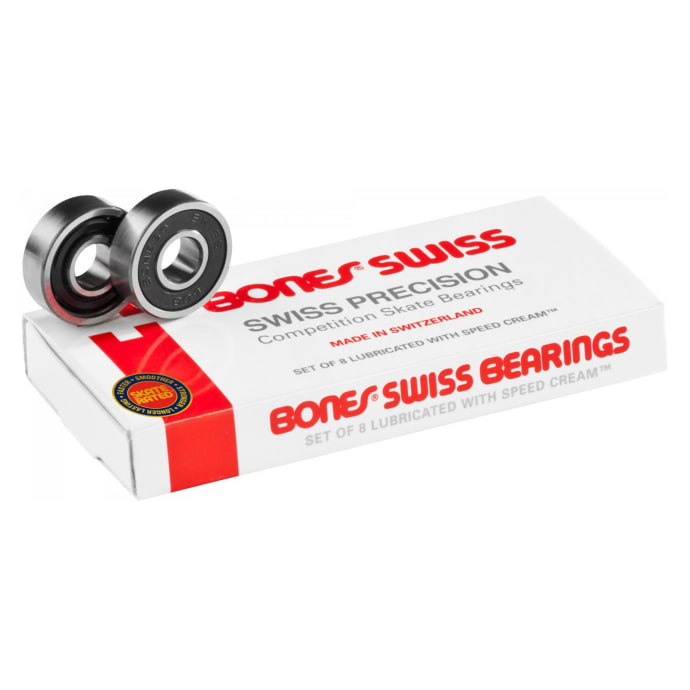 Bones Swiss Skateboard Bearings 8 Pack