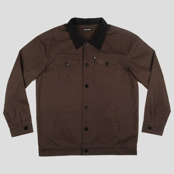"PASS~PORT ""WORKERS"" LATE JACKET DARK BROWN"