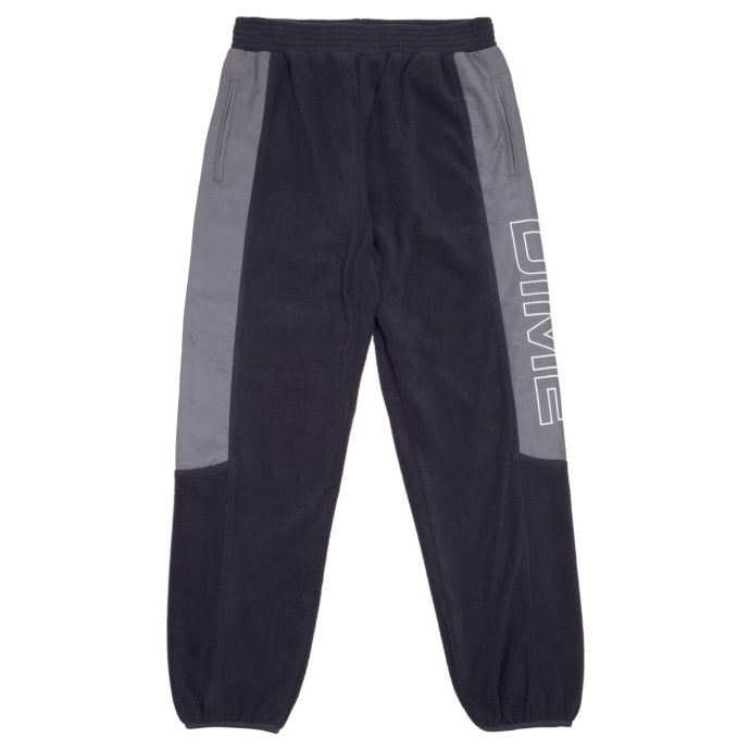 Dime Polar Fleece Track Pants - Navy/Charcoal