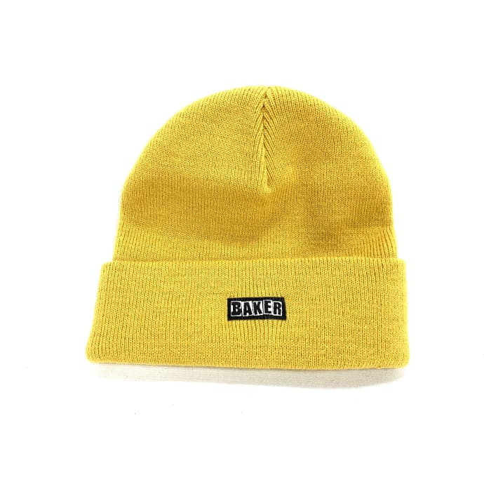 Baker Skateboards Brand Patch Logo Beanie Gold