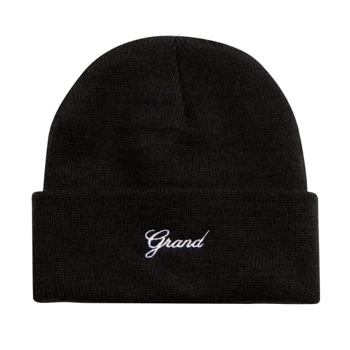 Grand Collection Script Beanie - Black