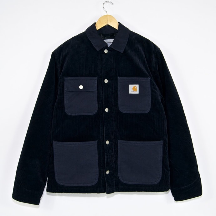 Carhartt WIP - Michigan Corduroy Coat - Dark Navy (Rinsed)