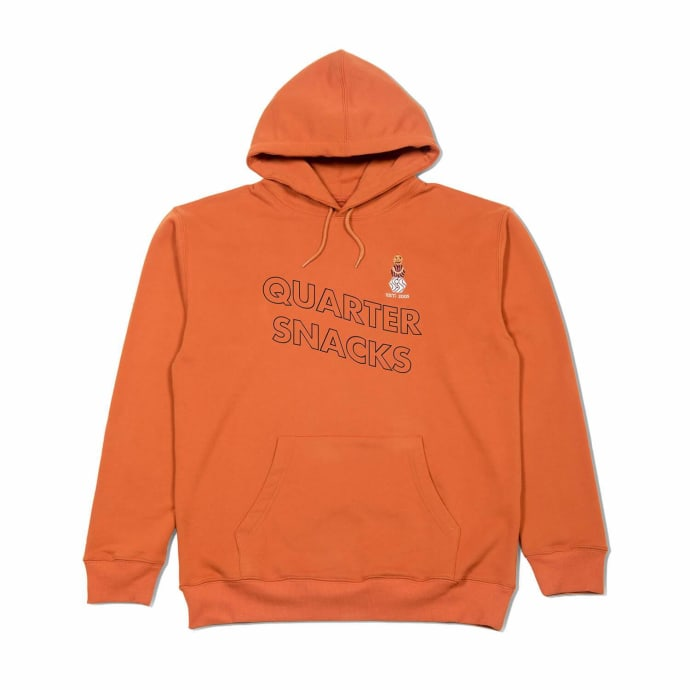 Quartersnacks Embroidered Snackman Hoodie - Rust