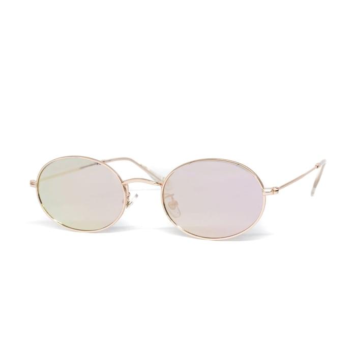 Glassy Sunhaters Stark Sunglasses - Rose Gold Mirror
