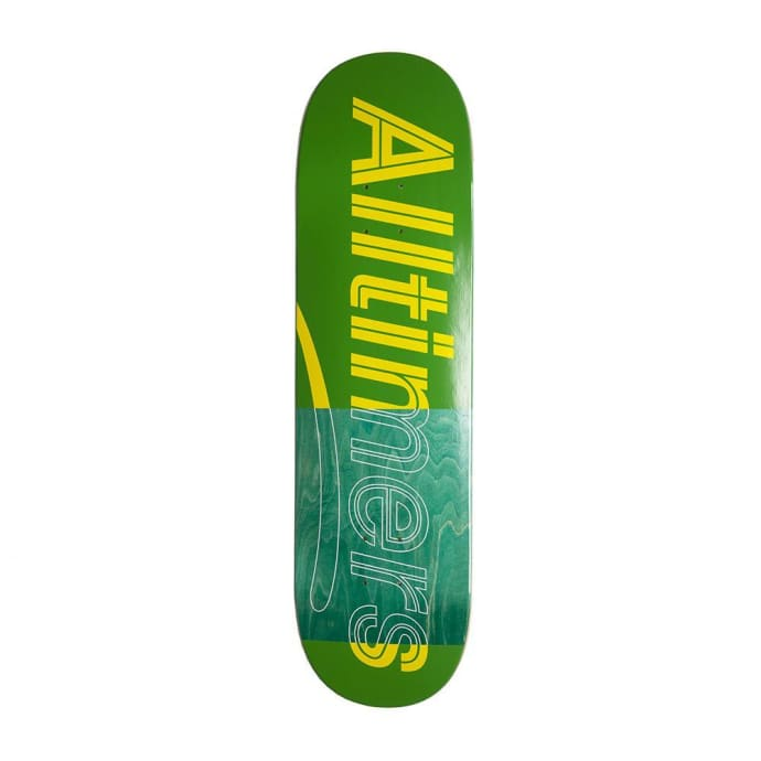 Alltimers Trace Logo Skateboard Deck Green - 8.5""