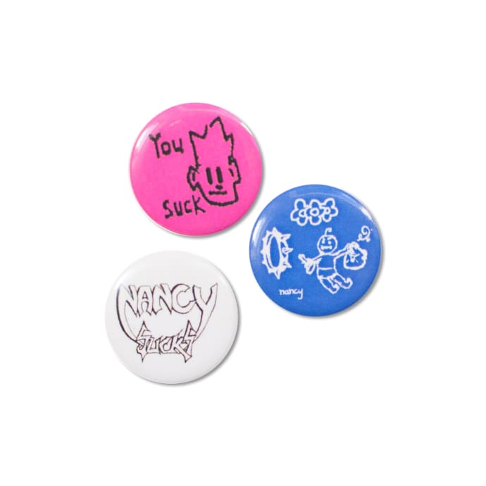 Nancy Button Badges (3 Pack)