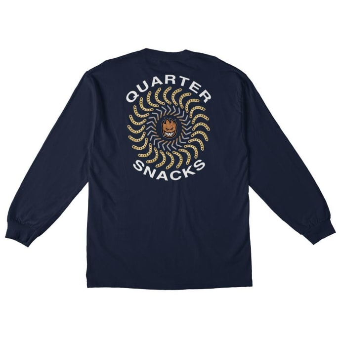 Spitfire x Quartersnacks Quarter Classic Long Sleeve T-Shirt - Navy