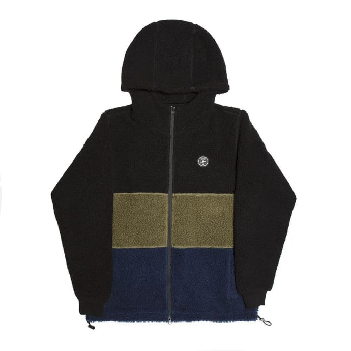 Alltimers Cousin Hooded Top - Black/Green/Navy