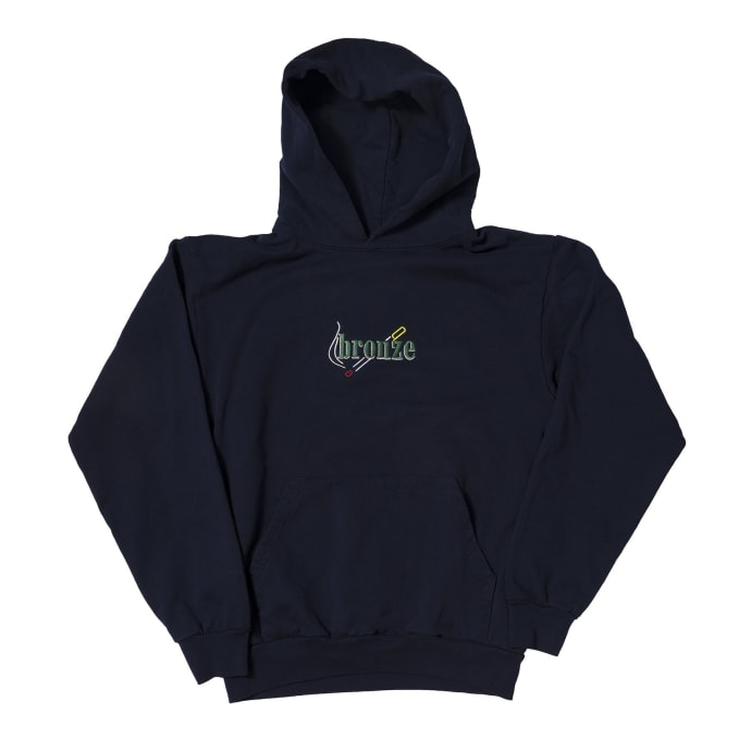 Bronze 56K Embroidered Smoke Hoodie - Navy