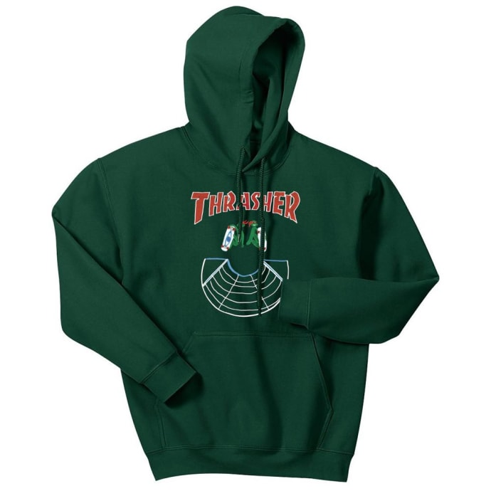 Thrasher Doubles Hoodie - Forest