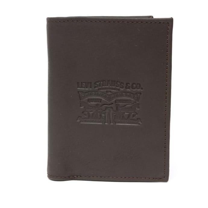 Levis Vintage Two Horse Vertical Coin Wallet - Dark Brown