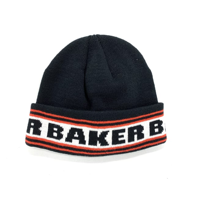 Baker Skateboards Block Lettering Beanie Black