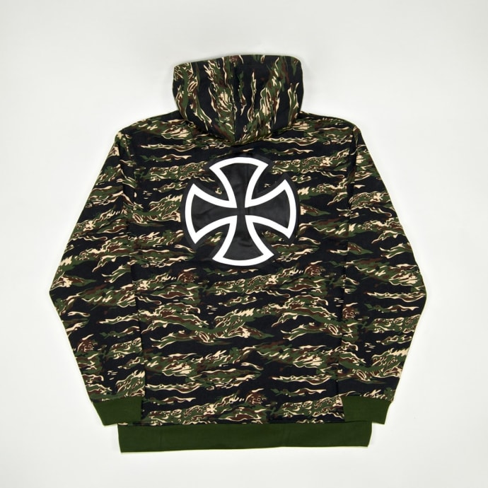 Independent - Bar Cross Pullover Hooded Sweatshirt - Tiger Camo