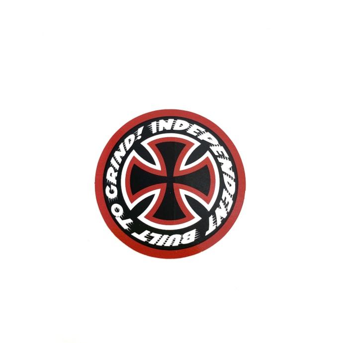 "Independent Trucks 2.5"" Black Red Cross Logo Sticker"