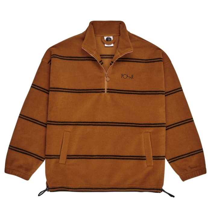 Polar Skate Co Striped Fleece Pullover 2.0 - Caramel