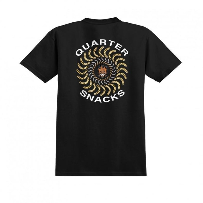 Spitfire x Quartersnacks Quarter Classic T-Shirt - Black