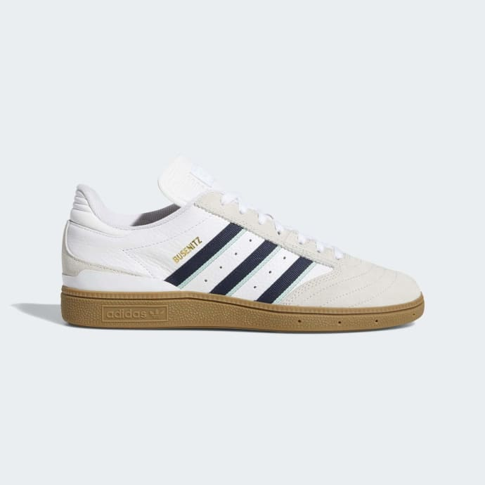 Adidas Busenitz Pro Shoes - Cloud White/Collegiate Burgundy/Clear Mint