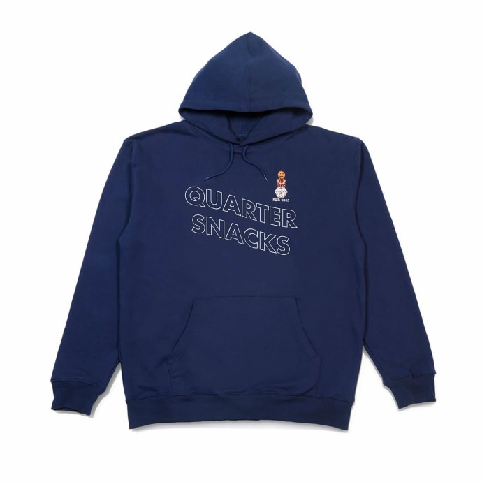 Quartersnacks Embroidered Snackman Hoodie - Navy