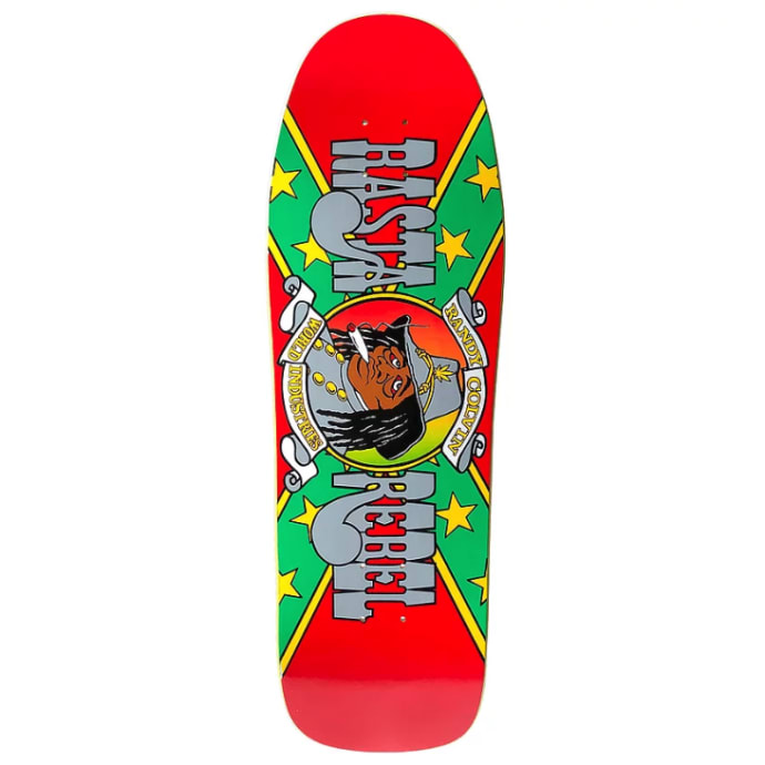 Prime - 1990 Randy Colvin Rasta Rebel OG Shape - Red Skateboard Deck 9.875""