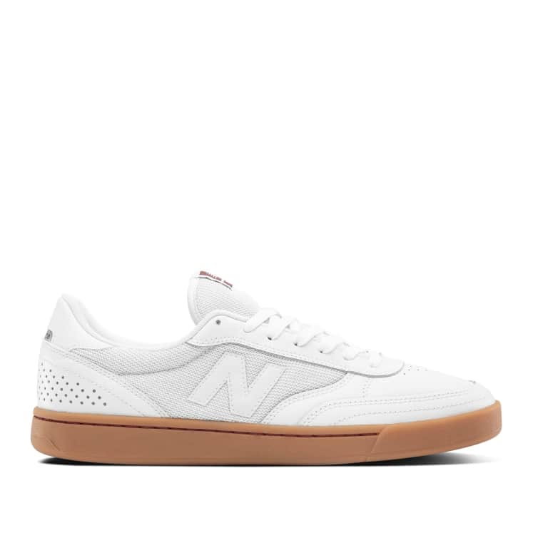 New Balance Numeric 440 Skate Shop Day Shoes - White / Burgundy ...