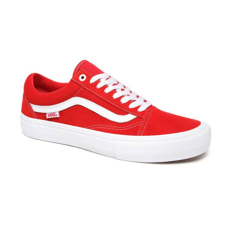 43% Off - Vans Suede Old Skool Pro Skate Shoes - Red / White | Parade