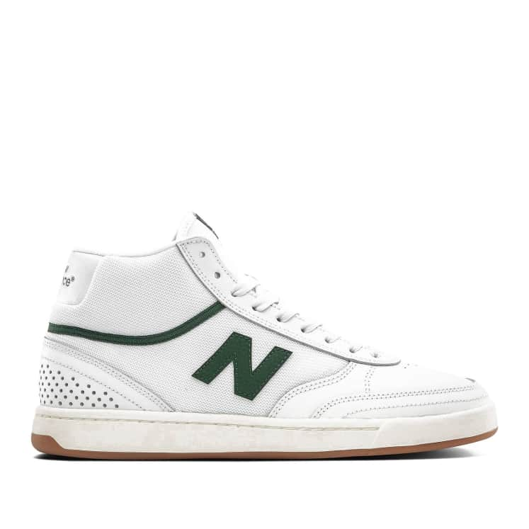Shop New Balance Numeric 440 High Shoes - White / Green | Parade