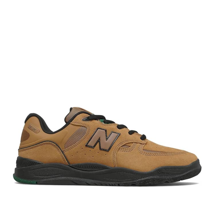 Shop New Balance Numeric Tiago 1010 Shoes - Brown / Green   Parade