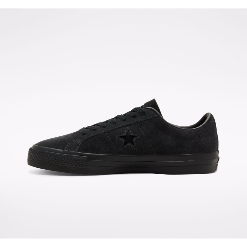Converse Cons One Star Pro Suede Skate Shoes Black Black