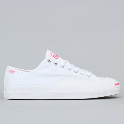 Converse Jack Purcell Pro OP OX Shoes White / Racer Pink / White