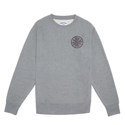 Fucking Awesome Spiral French Terry Crewneck Sweatshirt - Grey Heather