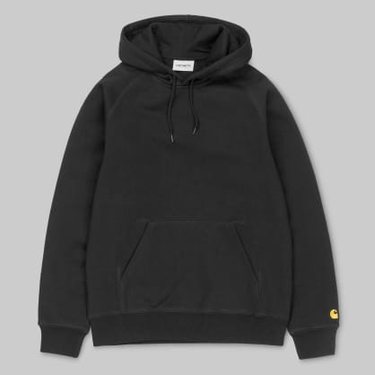 Carhartt WIP - Chase Hooded Sweatshirt - Black / Gold