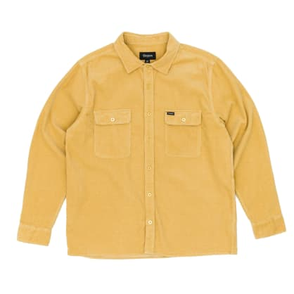 Brixton Archie Long Sleeved Shirt - Nugget Gold