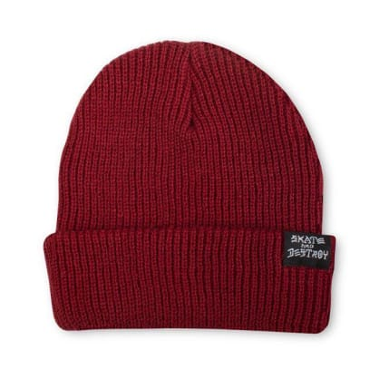Skate And Destroy Beanie | Maroon