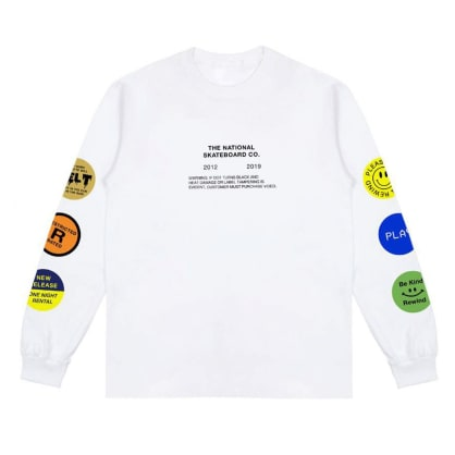 The National Tapes Long Sleeve T-shirt - White