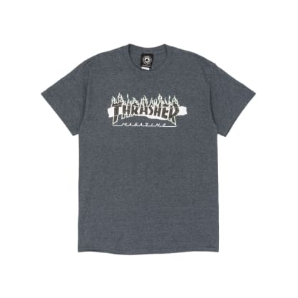 Thrasher Ripped T-Shirt - Dark Heather