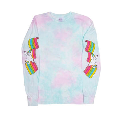 Rip N Dip My Little Nerm Long Sleeve - Cotton Candy Tie Dye