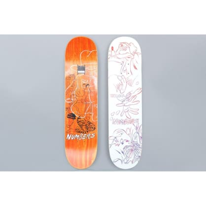 Numbers 7.8 Teixeira Edition 4 Skateboard Deck White