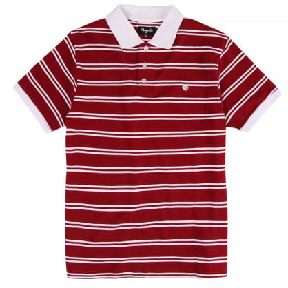 Striped Polo T-shirt | Red