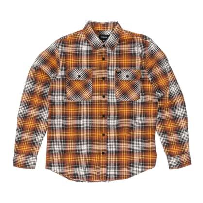 Brixton Bowery Lightweight Flannel Shirt - Burnt Orange