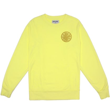 Fucking Awesome Spiral French Terry Crewneck Sweatshirt - Light Yellow